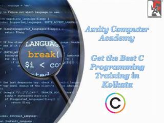 Get the Best C Programming Training in Kolkata