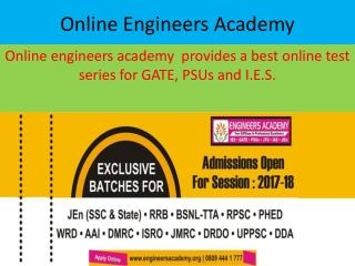 Online Engineers Academy: Offers Best GATE Test Series