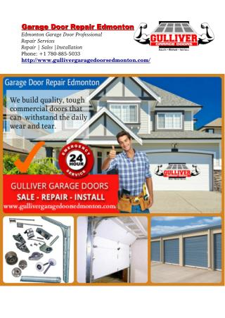 Why Your Overhead Door Isn't Opening Up 4 Reason - Garage Door Edmonton