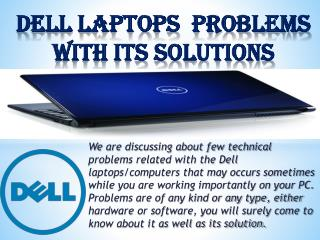 Dell laptop Common Problems- over Heating- Internet issues