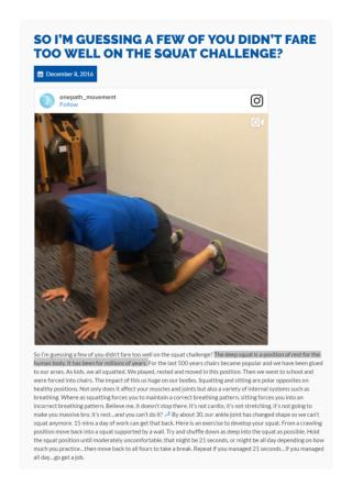 Know Proper Squat Position from an Osteopath Hornsby