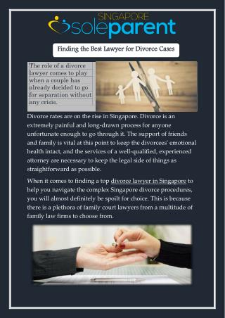 Finding the Best Lawyer for Divorce Cases