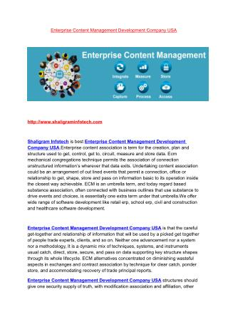 Enterprise Content Management Development Company | Enterprise Content Management Development Company USA | Enterprise C