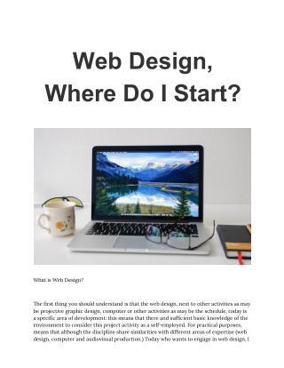 Web Design Where Do I Start?