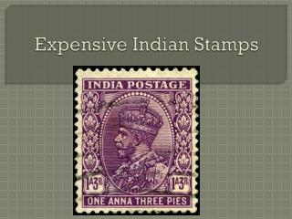 Expensive Indian Stamps