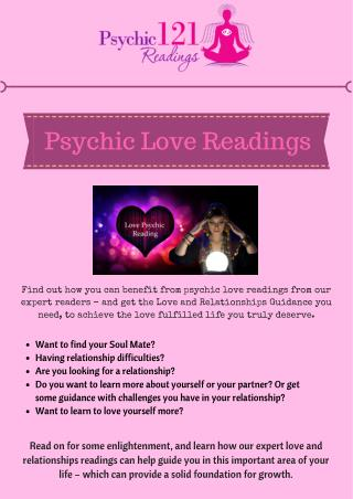 Love - Relationship Psychics | Revive Love with Psychic121Readings