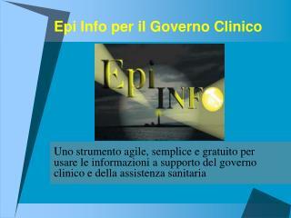 Epi Info per il Governo Clinico