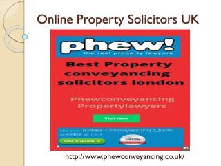 Online property solicitors UK