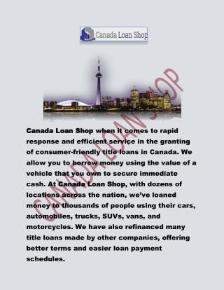 Get car title loans