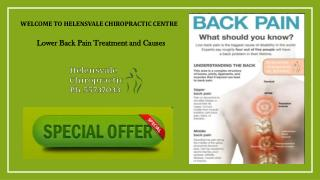 Lower Back Pain Treatment and Causes