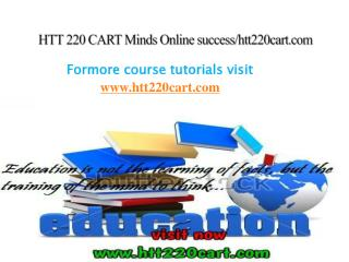 HTT 220 CART Minds Online success/htt220cart.com