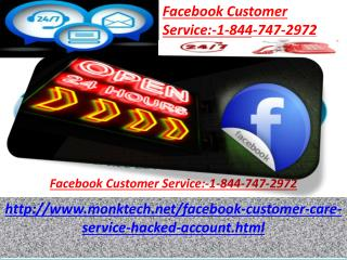 Why should I opt for Facebook customer service 1-844-746-2972?