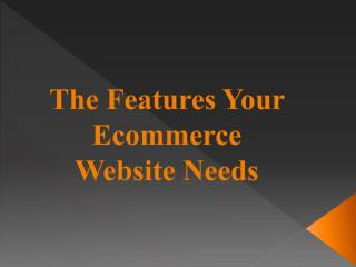 The Features Your Ecommerce Website Needs