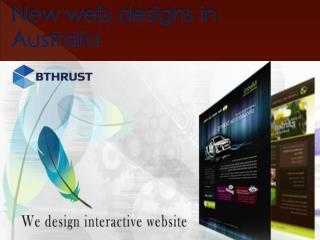 New web designs in Australia