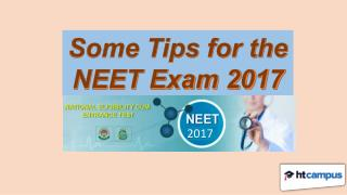 Some Tips for the NEET Exam 2017