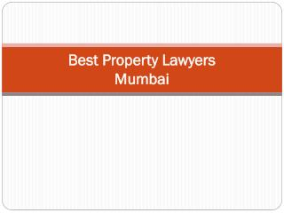 Best property lawyers mumbai
