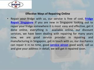Effective ways of repairing online
