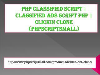 Php classified script | classified ads script php | Clickin Clone