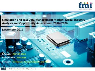 Simulation and Test Data Management Market Will hit at a CAGR of 12.5% from 2016 to 2026