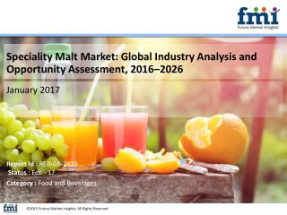 Speciality Malt Market Revenue is expected to Reach US$ 4 Bn by 2026 end