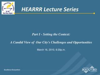 HEARRR Lecture Series