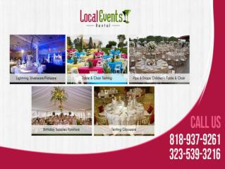 Wedding Party Rentals Los Angeles