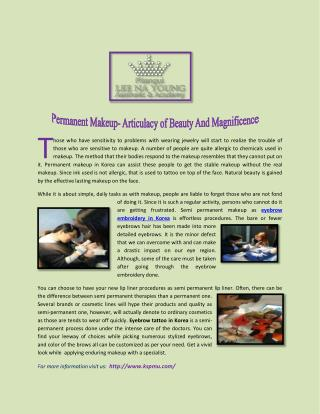 Permanent Makeup- Articulacy of Beauty And Magnificence