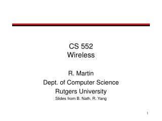 CS 552 Wireless