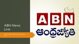 Watch ABN News Live | Andhra Jyothi Telugu News Channel