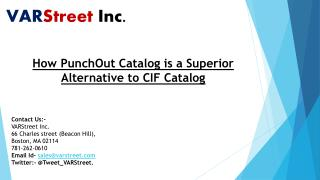 How PunchOut Catalog is a Superior Alternative to CIF Catalog