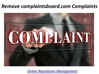 Remove complaintsboard.com Complaints