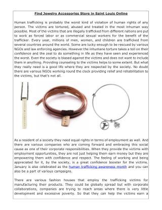 Find Jewelry Accessories Store in Saint Louis Online
