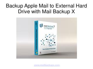 Backup Apple Mail Email Database to External Hard Drive