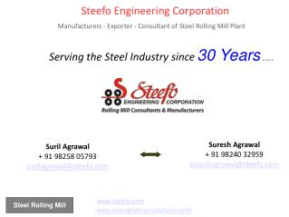 Rolling Mill Exporters, Rolling Mill Manufacturer - Steefo