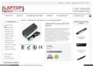 Ladegerät für Lenovo 92P1104 Netzteil
