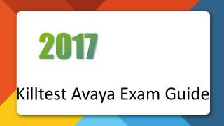 Avaya 7230X Study Guide