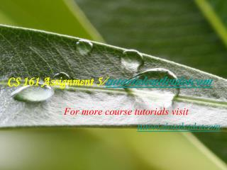 CS 161 Assignment 5/tutorialoutletdotcom