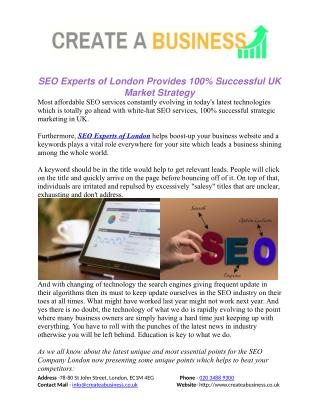 SEO Experts of London