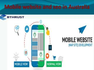 Mobile website and seo in Australia