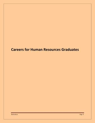 Career Opportunities for Human Resources Graduates