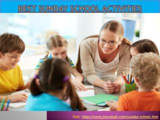 Best Sunday School Activities