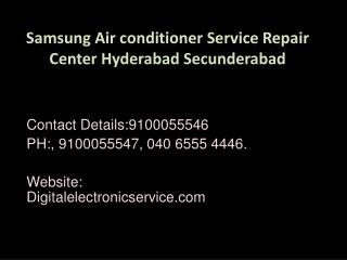 Samsung Air conditioner Service Repair Center Hyderabad Secunderabad