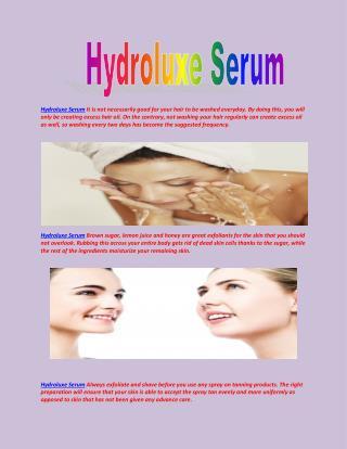 http://www.healthbuzzer.com/hydroluxe-serum/