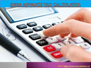 India advance tax calculator