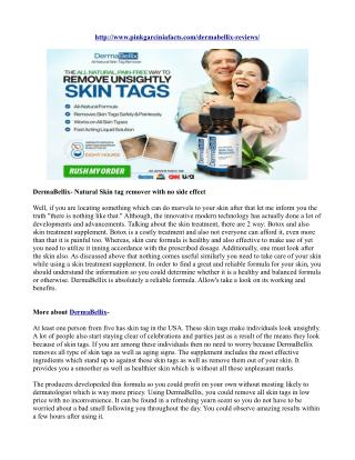 DermaBellix- Natural Skin tag remover with no side effect