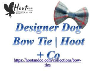 Designer Dog Bow Tie | Hoot   Co