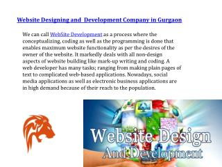 Website Designing and  Development Company in Gurgaon