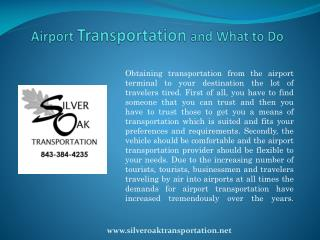 Airport Transportation and What to Do