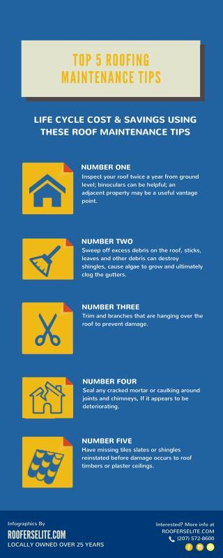 Top 5 Roofing Maintenance Tips - Roofers Elite