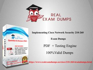 How to Pass Your Cisco 210-260 Exam With Dumps - Realexamdumps